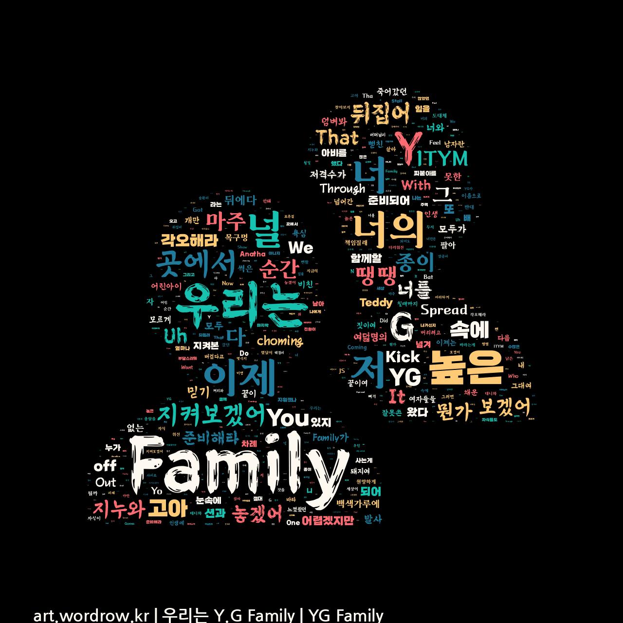 워드 아트: 우리는 Y.G Family [YG Family]-58